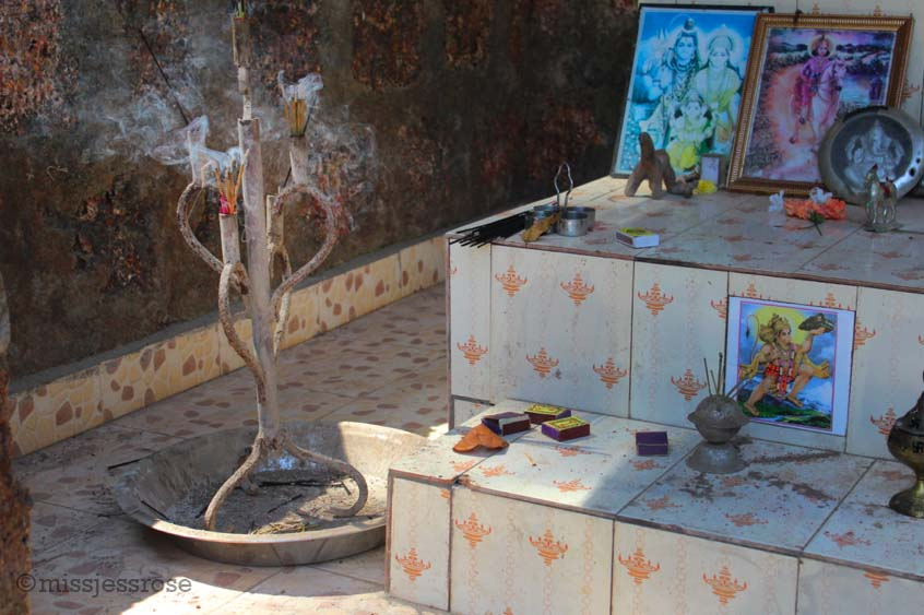 Roadside Hindu shrine in Goa