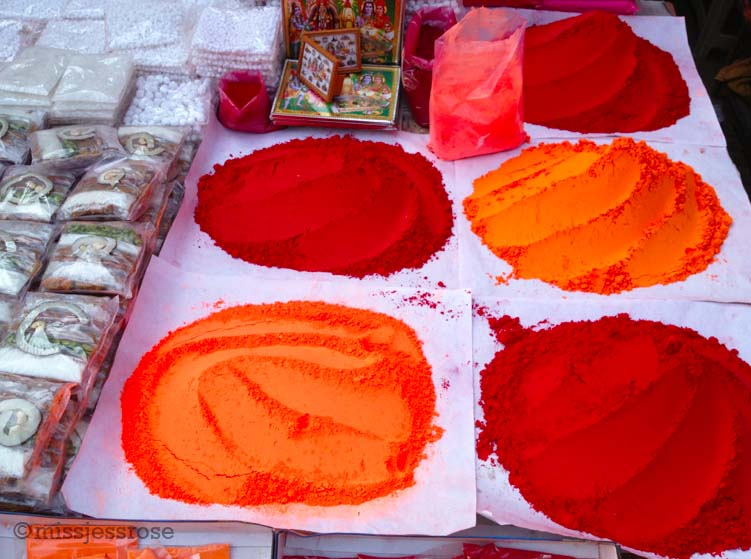 Colorful holy Hindu chalk for sale