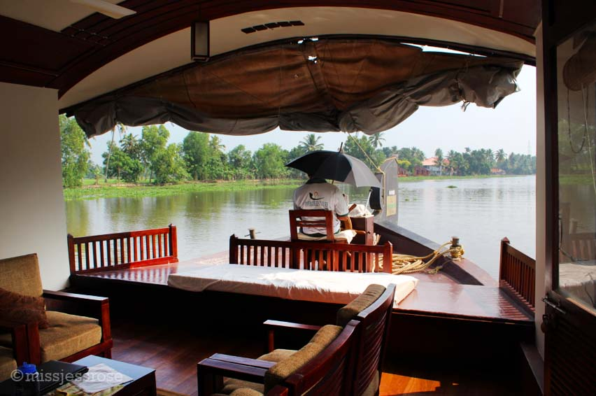 Living room on the houseboat