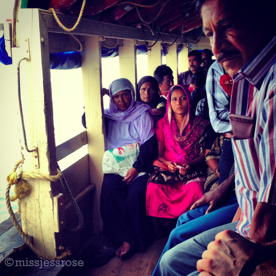 On the ferry boat crossing from Fort Kochi to Ernakulam