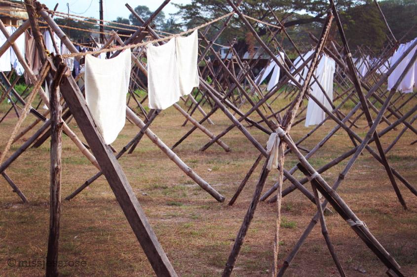 Wooden drying racks