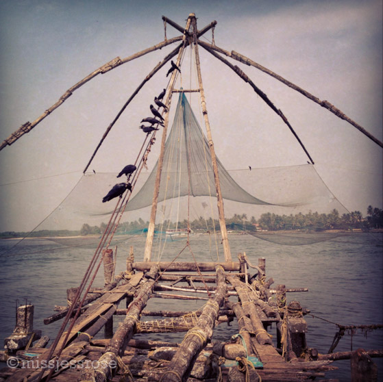 One Chinese fishing net requires 4 men just to work it