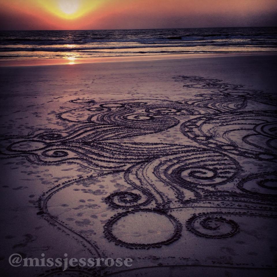 Designs on a beach in Goa, India