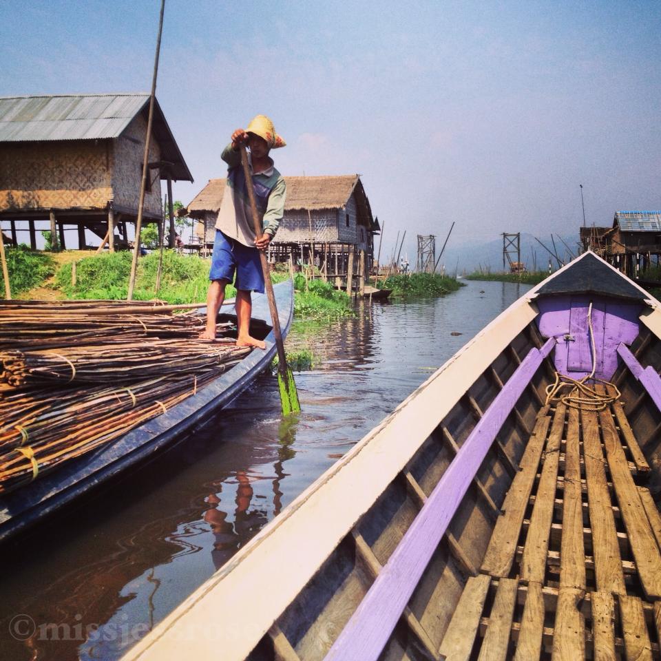 Boating on Inle Lake, Myanmar