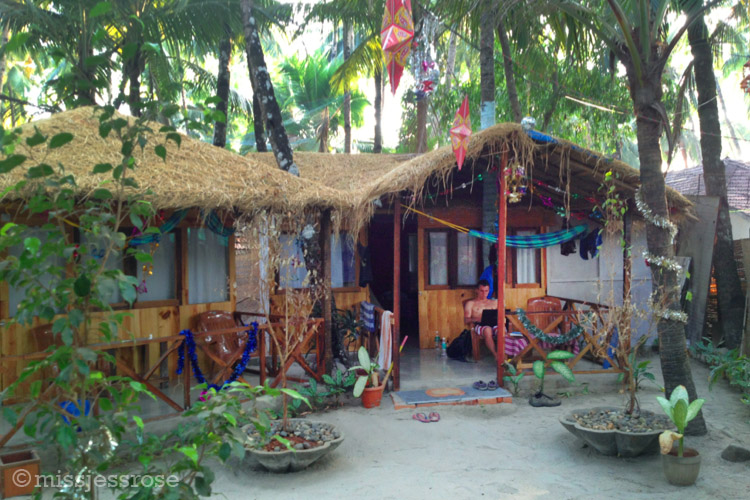 Just $8 a night per person to stay in this little beach hut