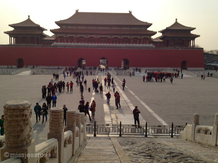 Inside an inner courtyard of the Forbidden City, Beijing