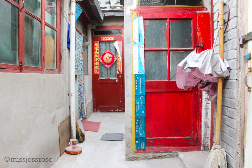 Peeking inside the communal living space of a  hutong