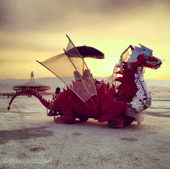 Dragon art car + space man