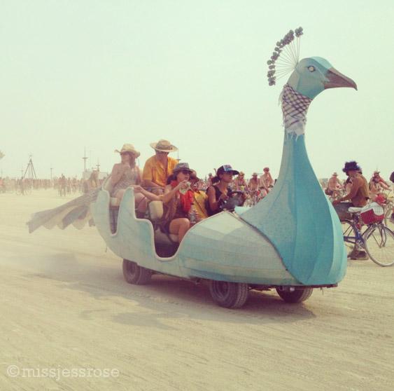 Peacock art car