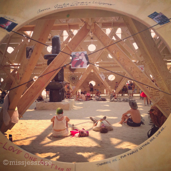 Looking inside the temple, a truly sacred space