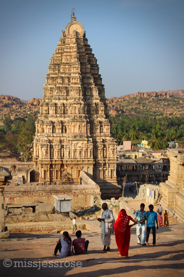Virupaksha temple, in honor of Shiva