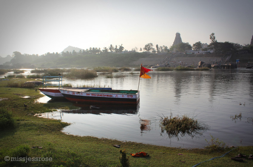 Our daily boat across the Tungabhadra river