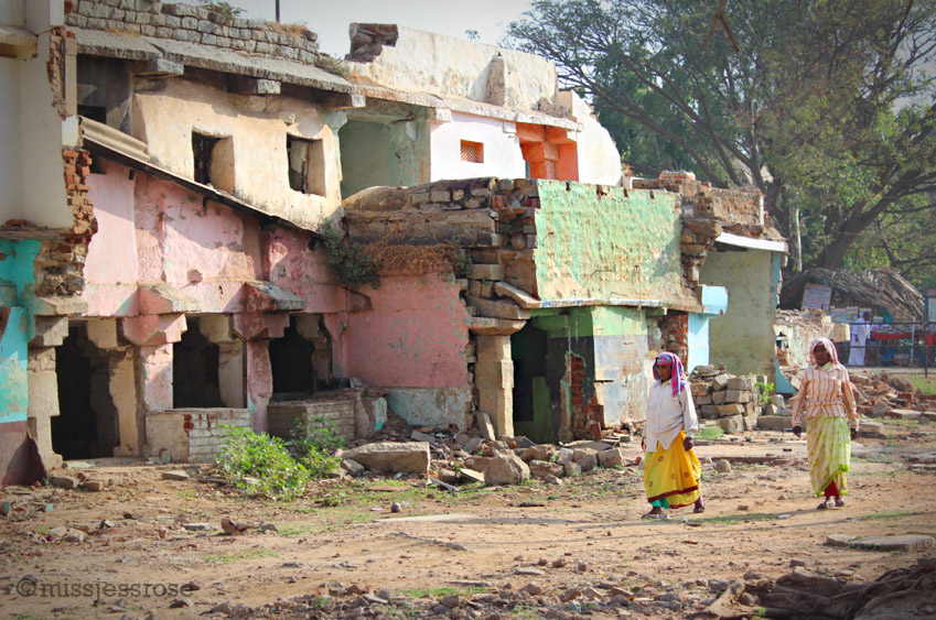 Ruins of the demolished Hampi bazaar