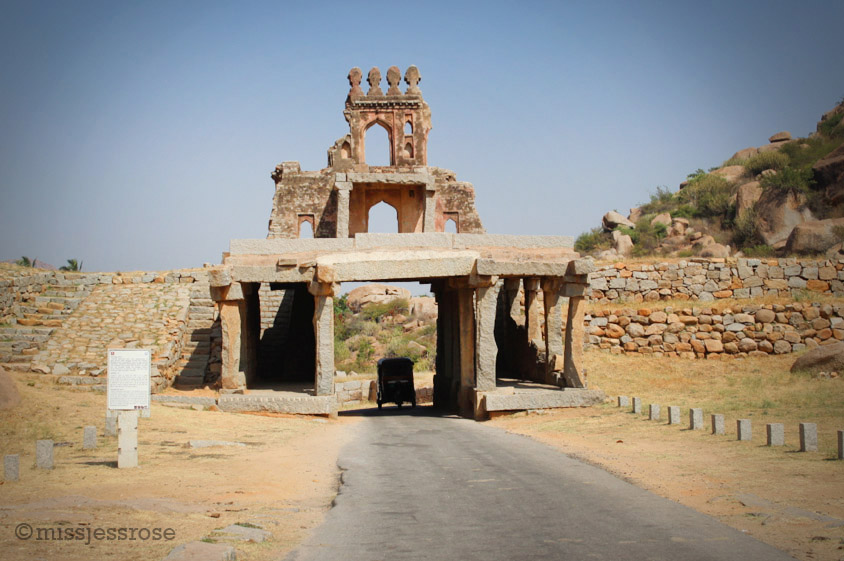On the tuktuk, bound for Vittala temple, another section of the UNESCO World Heritage site in Hampi