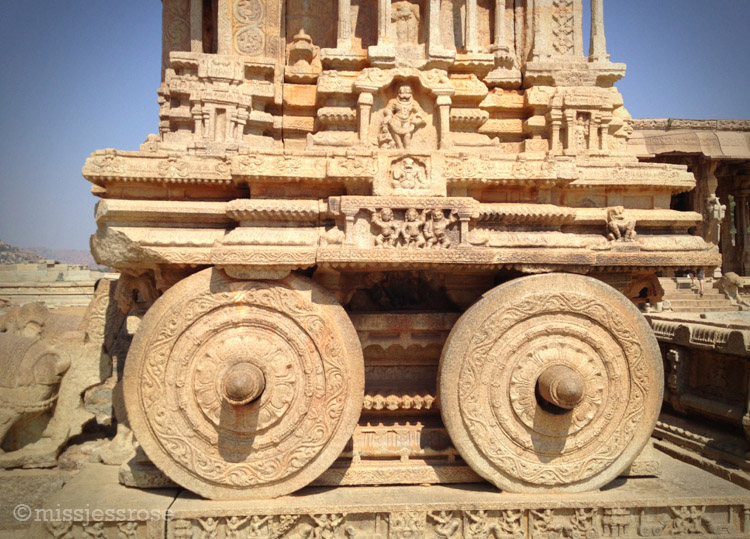 Stone chariot, one of the most famous carvings on site