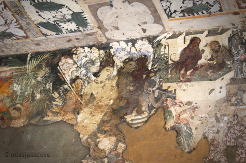Most of the murals tell elaborate stories if you look closely enough