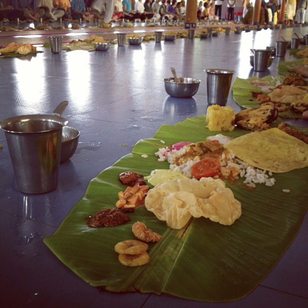 Indian lunch, Sivananda Ashram