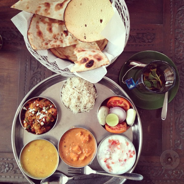 Thali lunch, Jodhpur, India