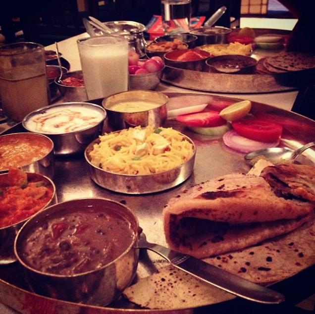 Thali dinner, India