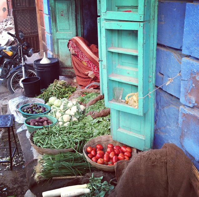 Veggies for sale, Jodhpur, India