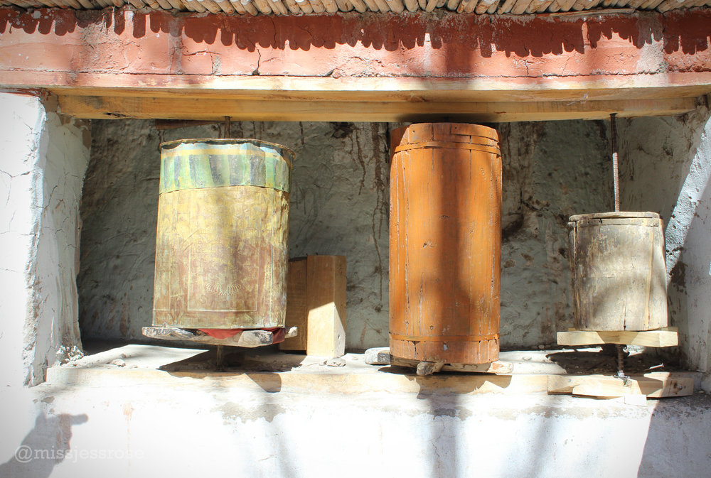 Old prayer wheels