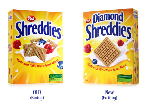 Packaging Redesign - The Diamond packaging was available in-store for a limited run. People auctioned packs on eBay, and even the last Square Shreddie was sold off.