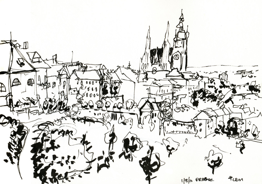 Here is a drawing of Prague I made earlier.