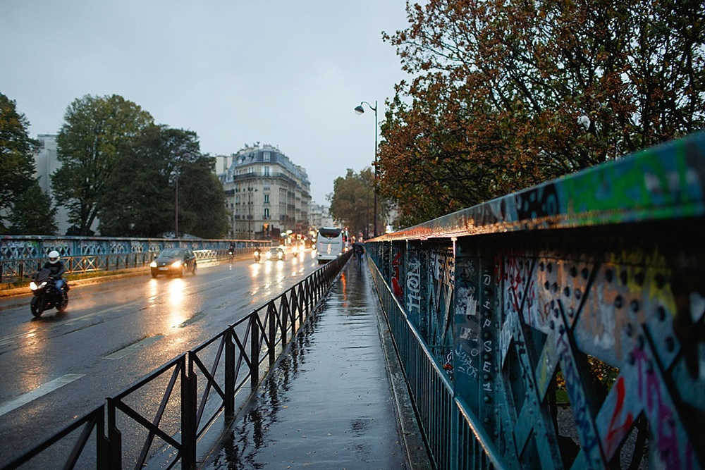 wet paris streets