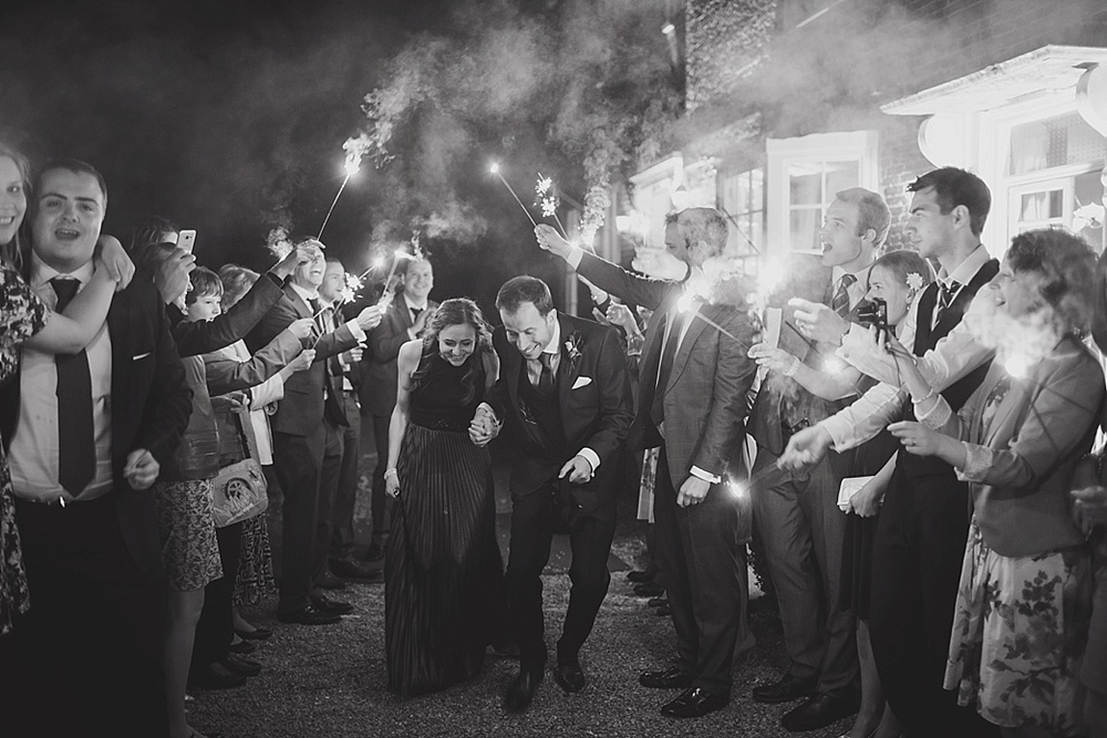 Hornington Manor sparkler exit