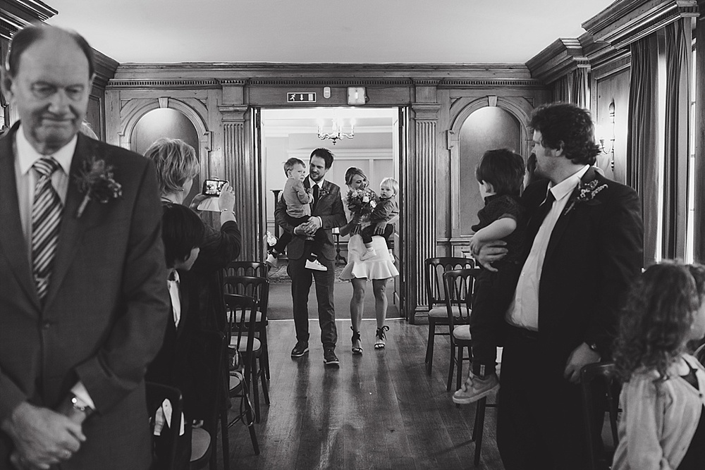 Burgh house wedding ceremony