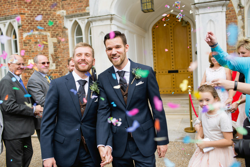 confetti shot - LGTB wedding - same sex wedding