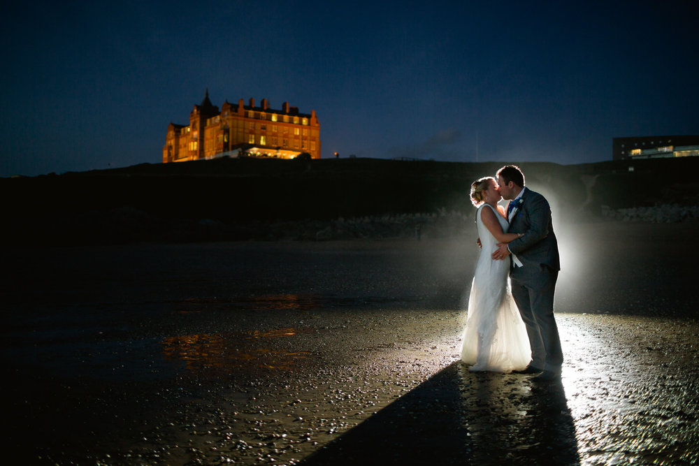 Headlands Hotel wedding photography - Newquay wedding - Beach wedding