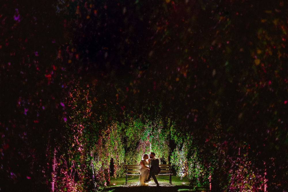 Tythe Barn wedding - Tythe barn at night - Tythe barn wedding photography
