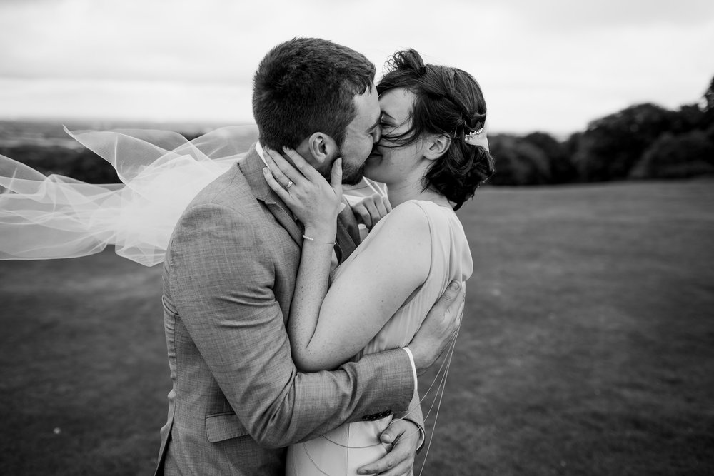 Lickey Hills romantic wedding - Lickey hills wedding - wedding kiss