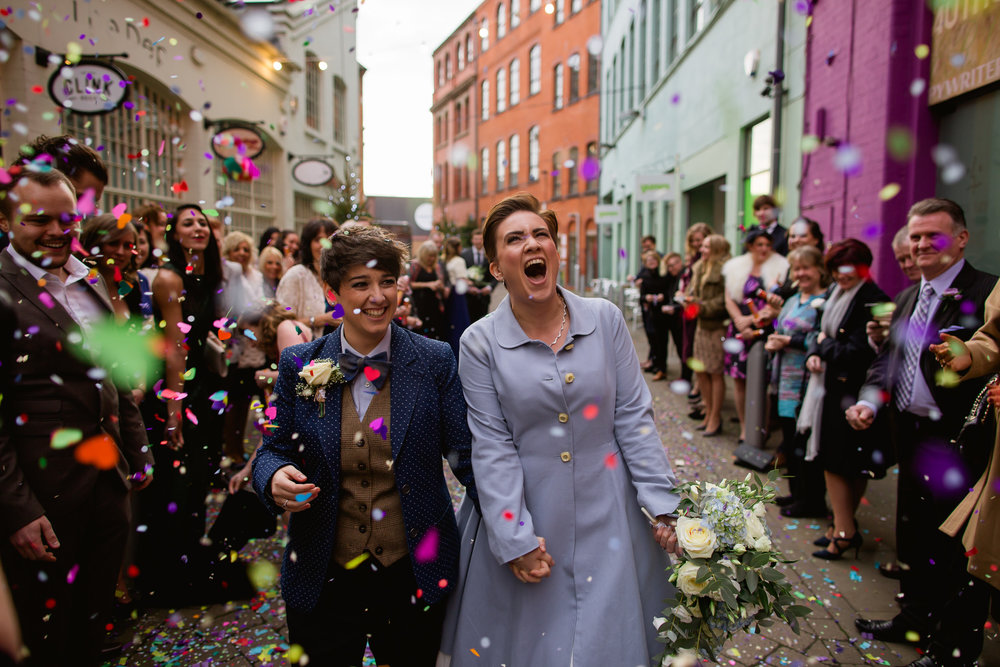 same sex wedding Custard Factory - Custard factory wedding - LGBT wedding - Birmingham wedding