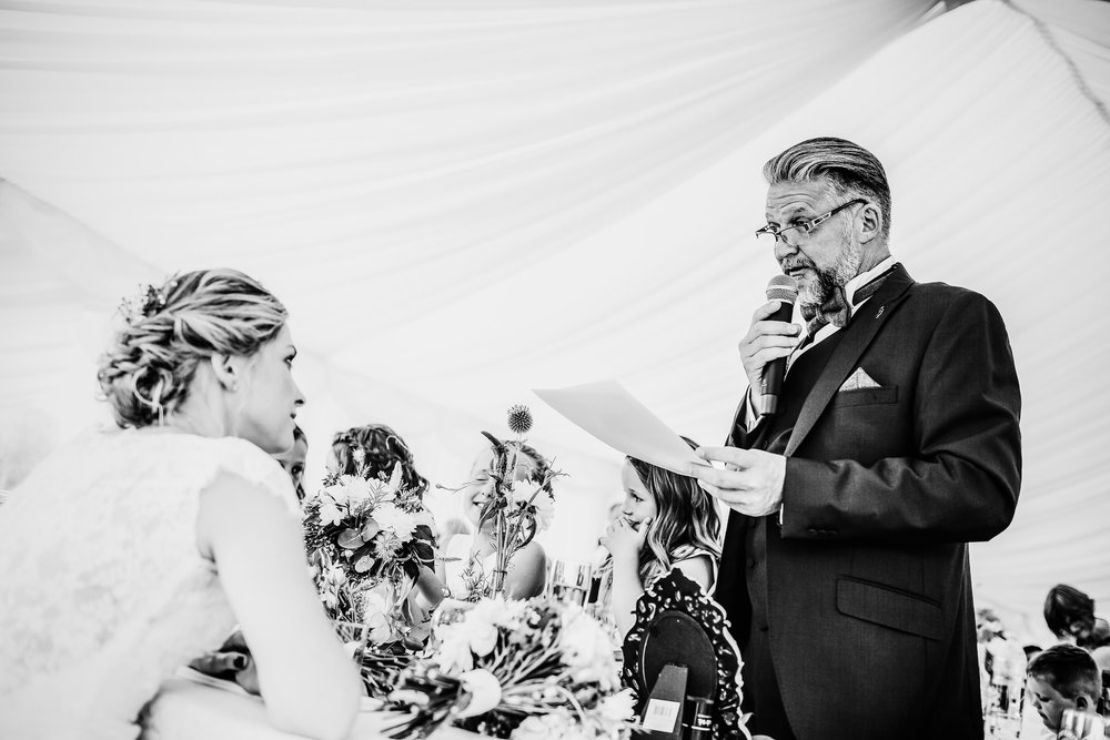father of the bride speech - emotional speech - Birmimgham wedding