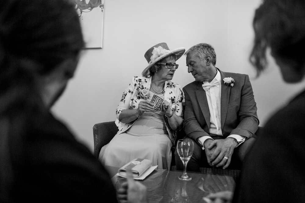 Playing cards at a wedding - yorkshire wedding