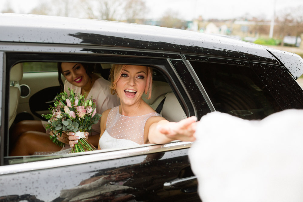 bridal arrival at the hepworth