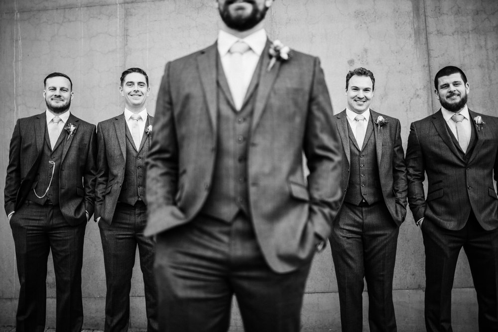 The groomsmen at the hepworth