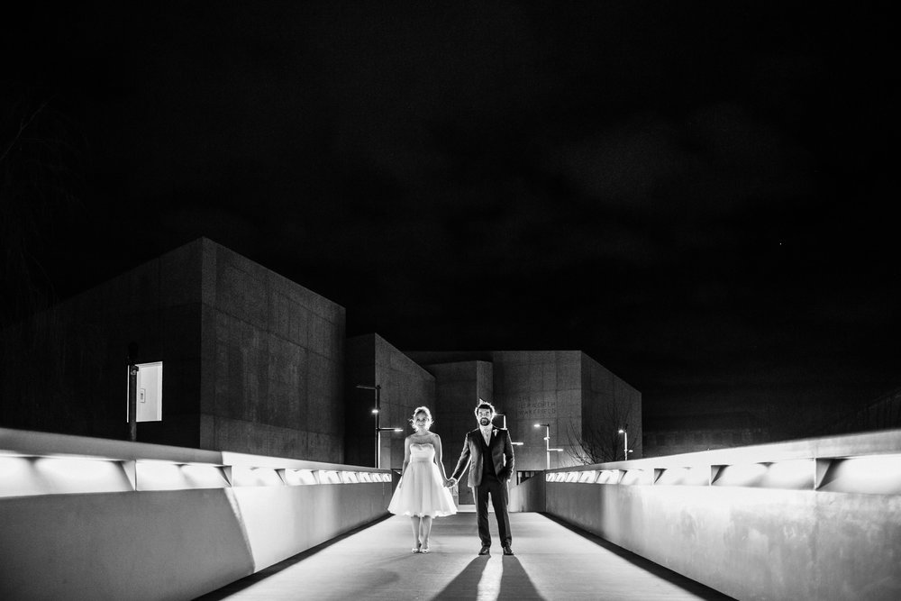 hepworth gallery night time wedding pcitures