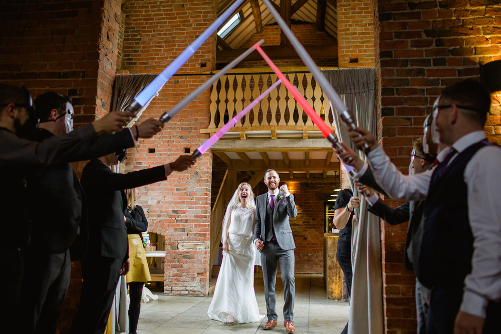 star wars wedding at shustoke barn