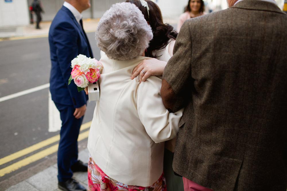 A hug for grandma