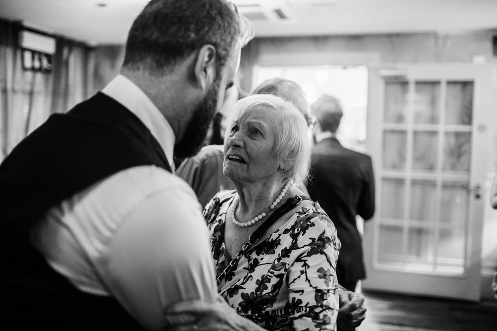 a grandmother at a wedding at great john street hotel manchester