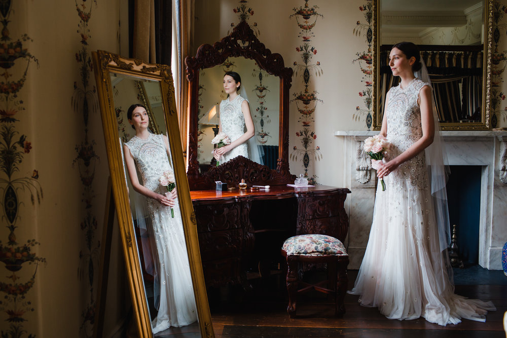 a bride before her wedding, award winning image as chosen by rock an roll bride magazine
