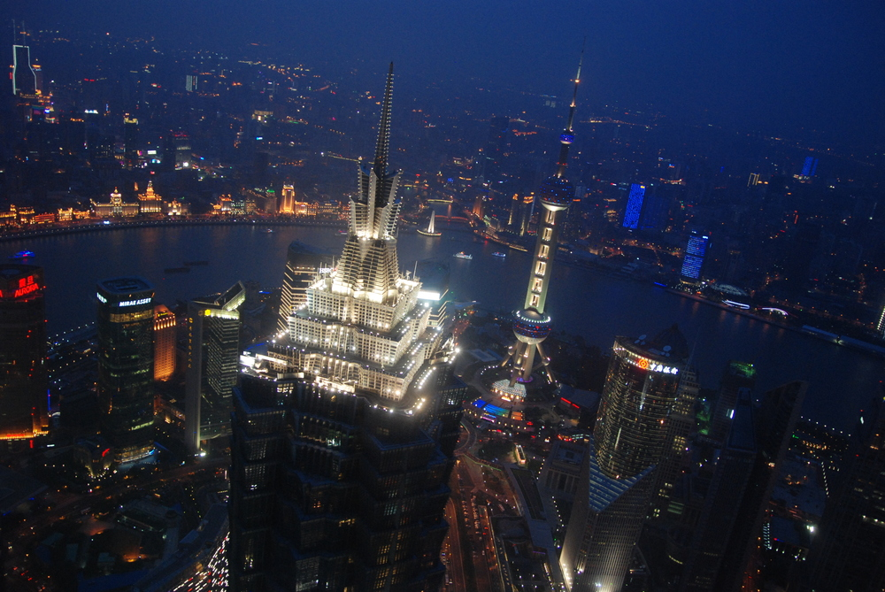 Shanghai, China. View from the Shanghai World Financial center.