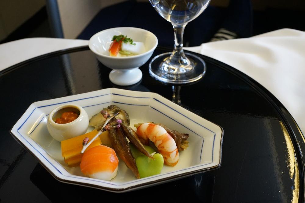 ANA First Class, kaiseki meal