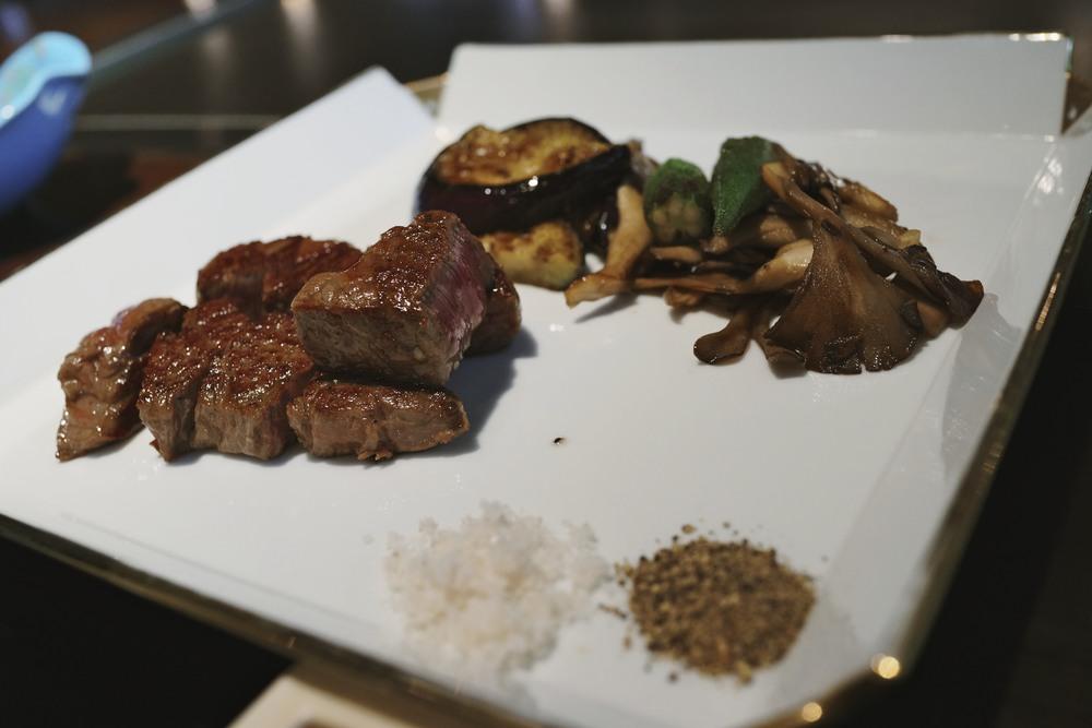 Teppanyaki lunch at the Shiroyama Kanko Hotel, Kagoshima