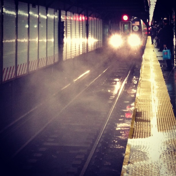 The underground train chasm.  (Taken with  instagram )