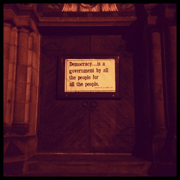 Democracy. (Taken with  instagram )
