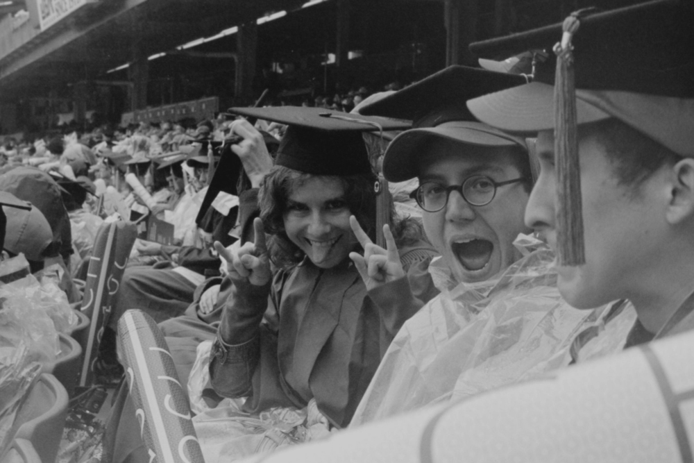 Kayla, Shannon, Eric, Paul  NYU Graduation 2010  35mm b&w film